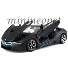bmw model car rastar 56500 bmw i8 1 24 diecast model car matte black ebay