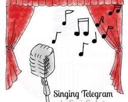 singing telegram fort worth telegram etsy