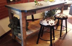 industrial bar table and stools industrial bar table made of recycled wood and repurposed billiard slate