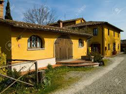 traditional country farmhouse in tuscany stock photo picture and