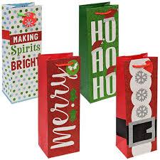 wine bottle gift bags bulk christmas themed glittery wine bottle gift bags at dollartree