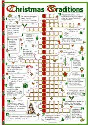 english teaching worksheets christmas traditions