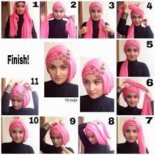 tutorial makeup natural hijab pesta modern hijab styles tutorial hijab pesta pinterest modern