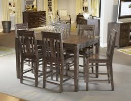 High Dining Room Table Set by Seven Piece Casual Counter Height Dining Set By Kincaid Furniture