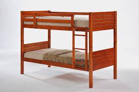 Bedroom  Oak Twin Kids Bunk Bed With Ladder Simple Design Solid - Oak bunk beds for kids