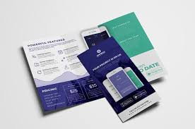 brochure 3 fold template psd mobile app tri fold brochure template psd ai vector brandpacks
