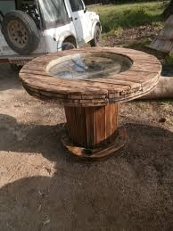 Cable Reel Table by Upcycled Wooden Cable Reel Made Into A Table Upcycled Cable