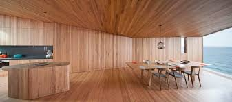 Wooden Interior by The Wood And The Ocean Beach House Interiors By John Wardle