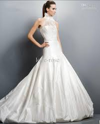 high wedding dresses 2011 discount gown high neck chapel satin bridal