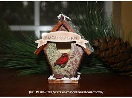 how to alter a wooden birdhouse ornament snapguide