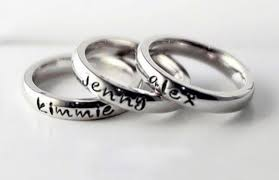 name rings for eleventh avenue personalized stackable name rings only 7 99 each