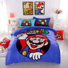 Mario Bedding Set Mario Bed Sheet Ebay