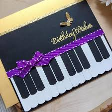 handmade birthday card happy birthday birthday card piano