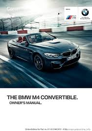 bmw m4 convertible 2016 f83 owner u0027s manual