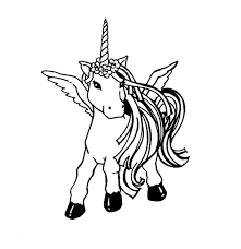 beautiful unicorn starring a fading rainbow coloring page new free