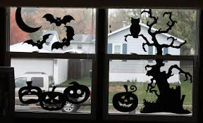 Lighted Halloween Decorations Windows by Lighted Halloween Window Decorations Halloween Silhouette
