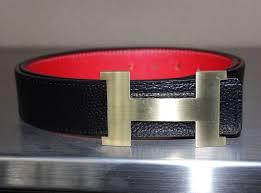 hermes belt men u0027s pre owned u0026 red leather belt with gold h