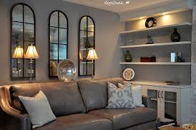 Custom Living Room Cabinets Toronto San Francisco Gray Leather Sofa Living Room Midcentury With Yellow