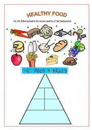 worksheet healthy food pyramid