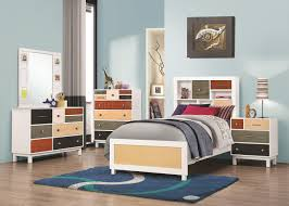Kids Twin Bedroom Sets Lemoore 400791 Kids Bedroom 4pc Set By Coaster W Options
