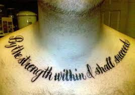 amazing quote words tattoos on chest for in 2017 photo
