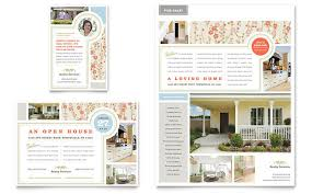 estate home for sale flyer ad template design