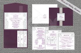 pocket fold samoan tribal 01 pocket fold wedding invitation kalidad