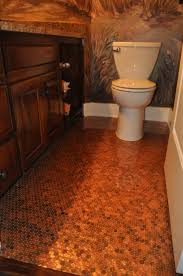 Diy Bathroom Flooring Ideas Penny Floor Artwork Using Pennies Pinterest 50s Penny Floor