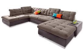 wohnlandschaft u form mit schlaffunktion wohnlandschaft palomino xxl mit schlaffunktion braun sofas