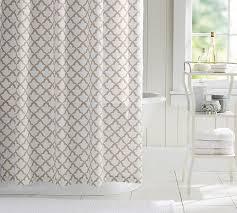 Shower Curtain Marlo Organic Shower Curtain Pottery Barn