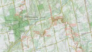 Caledon Forest Map The Toronto Bruce Trail Club One Of The Nine Member Clubs Of The