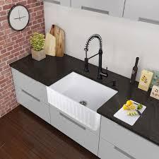 Black Faucet Bathroom by Vigo Edison Single Handle Pull Down Spray Kitchen Faucet Matte