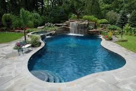 Pool Ideas For Backyard Tropical Backyard Waterfalls Allendale Nj Cipriano Landscape