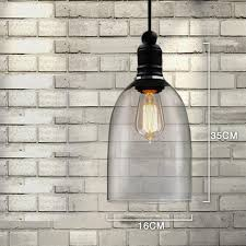 country style hanging lamp glass pendant lamp oval featured e27