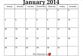 printable 2014 calendar month by month january 2014 monthly