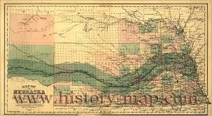 Nebraska County Map Pacific Railroad Land Grant