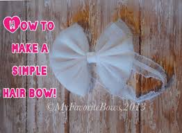 tulle hair bows how to make a tulle hair bow