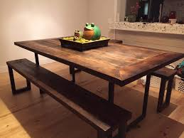 Barn Wood Sofa Table by Reclaimed Wood Farm Table 1