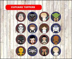wars cupcakes wars chalkboard cupcakes toppers printable wars
