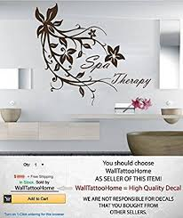 amazon com wall decals spa therapy nature leaves flowers branch