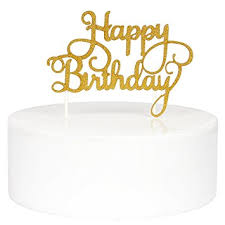 birthday cake topper innoru happy birthday cake toppers single sided gold