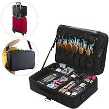 makeup artist box monstina 3 layer black multi functional professional
