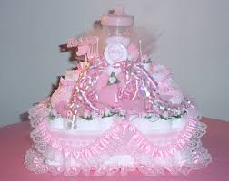 baby shower diaper cakes girls diaper cakes pink quarter