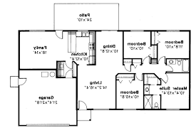Open Ranch Floor Plans Ranch House Plans With Bedrooms Together Homes Zone