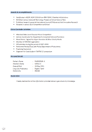 Sap Mm Resume Sample For Freshers by B Tech Fresher Resume Sample Download