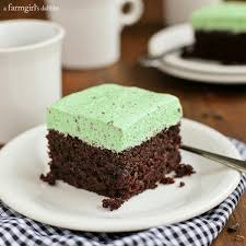 chocolate cake with fluffy mint chocolate chip buttercream u2022 a