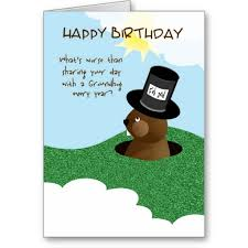 groundhog day cards a humorous happy birthday on groundhog day card with this