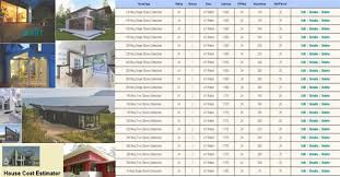 house cost estimator house construction cost calculator house construction plan