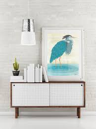 bird decorations for home blue heron art print blue heron poster nautical print coastal