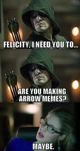 Arrow Memes - 28 funniest memes from the arrow tv series the arrow points in a